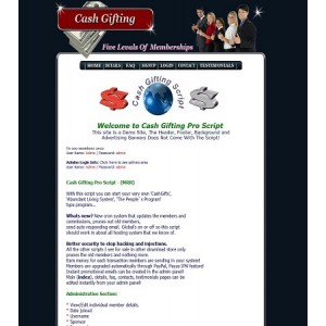 Cash Gifting Pro - PHP Script - Abundant Living System