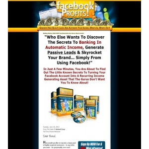FaceBook Profits: Step-By-Step Video course